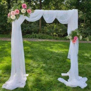 White Sheer Wedding Bridal Party Backdrop Decor 🔥